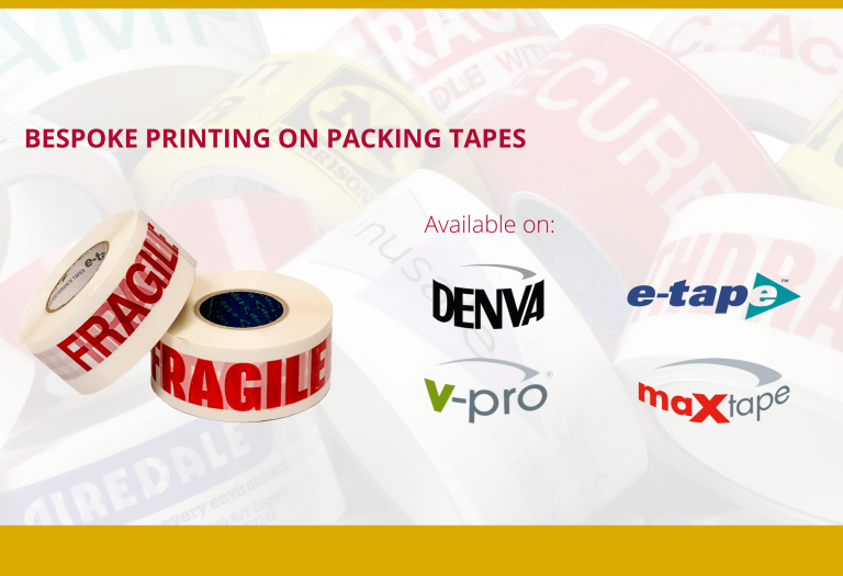 Bespoke printing on Kwikpac adhesive packing tapes
