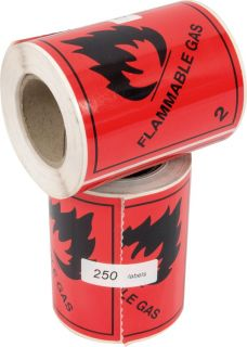 Flammable Gas Labels