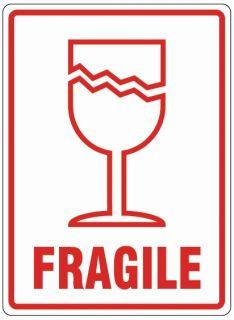 Printed Parcel Labels - Fragile