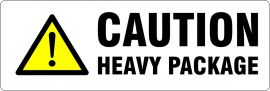 Printed Parcel Labels - Caution Heavy