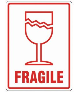 Printed Parcel Labels - Fragile