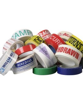 Bespoke, custom-made adhesive tapes, made your specifications. Available in a range of colours, sizes and with your unique branding and logo.