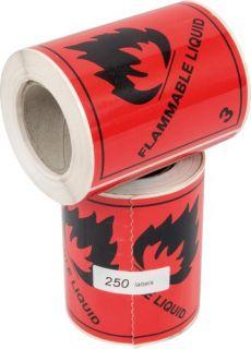 Flammable Liquid Labels