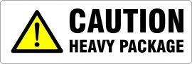 Printed Parcel Labels - Caution Heavy