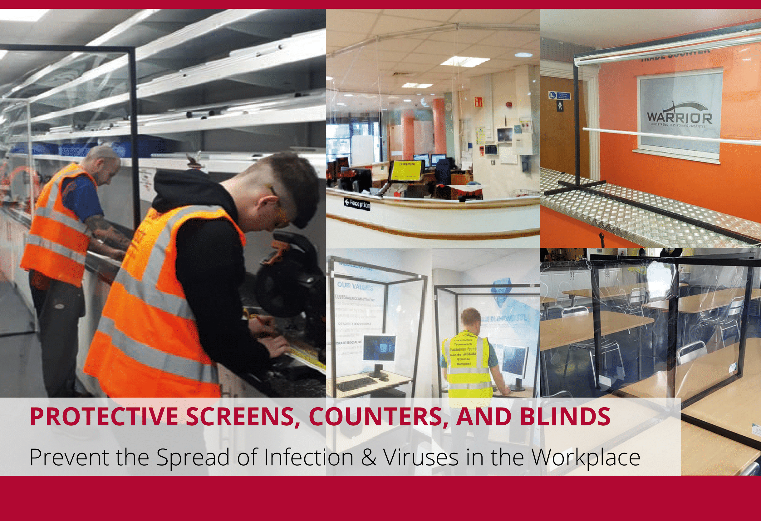 Stay Safe In The Workplace With Protective Screens, Counters & Blinds