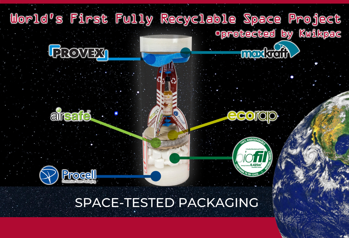 Kwikpac Packaging in Space!
