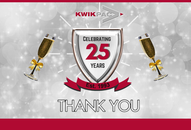 Celebrating 25 Years in Packaging!