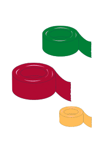 tape rolls with different widths