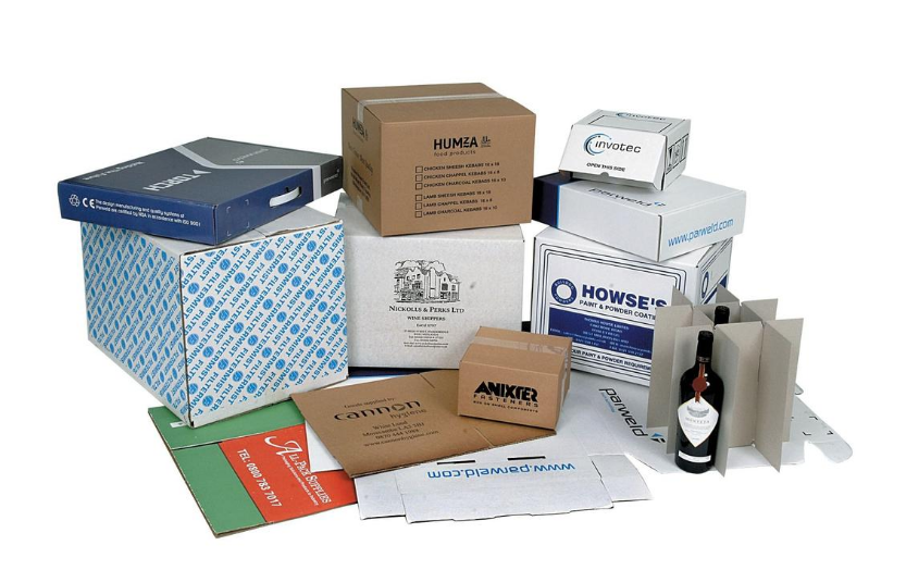 assortment of bespoke-printed boxes and styles