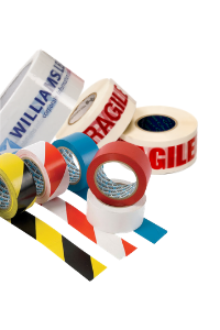 custom text and colours for packing tapes