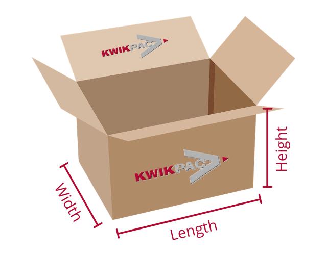Kwikpac box dimensions