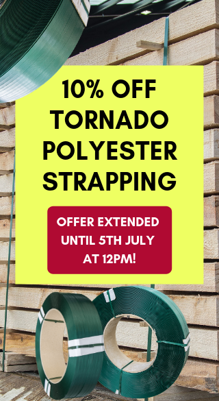 Tornado PET strapping - 10% off in June!