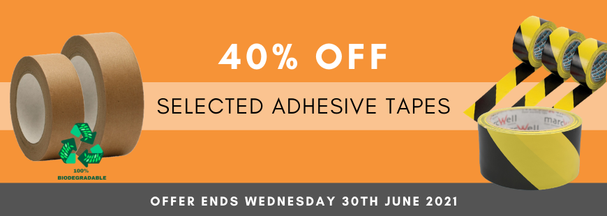 40% off selected adhesive tapes