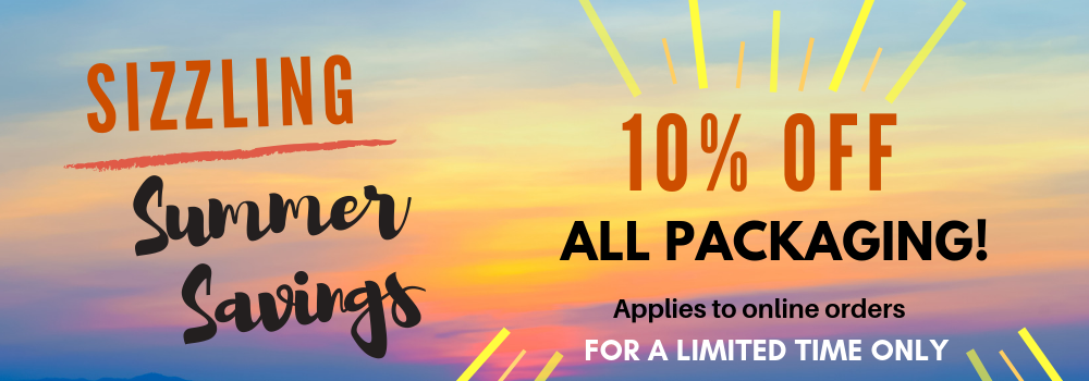 10% off packaging July 2019