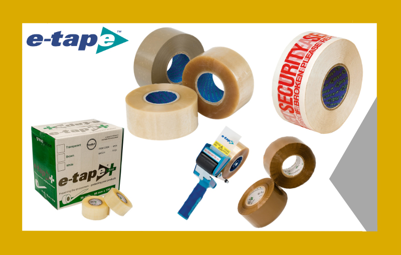 e-tape packing tape