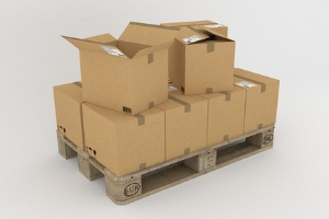 Cardboard boxes and adhesive tape