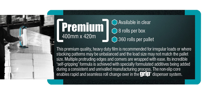 Premium grip film from Kwikpac