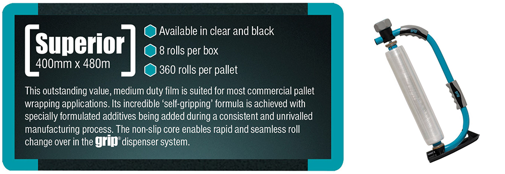 superior grip film from Kwikpac