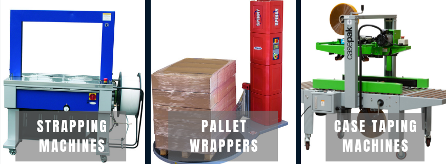 strapping machines,pallet wrappers and taping machines