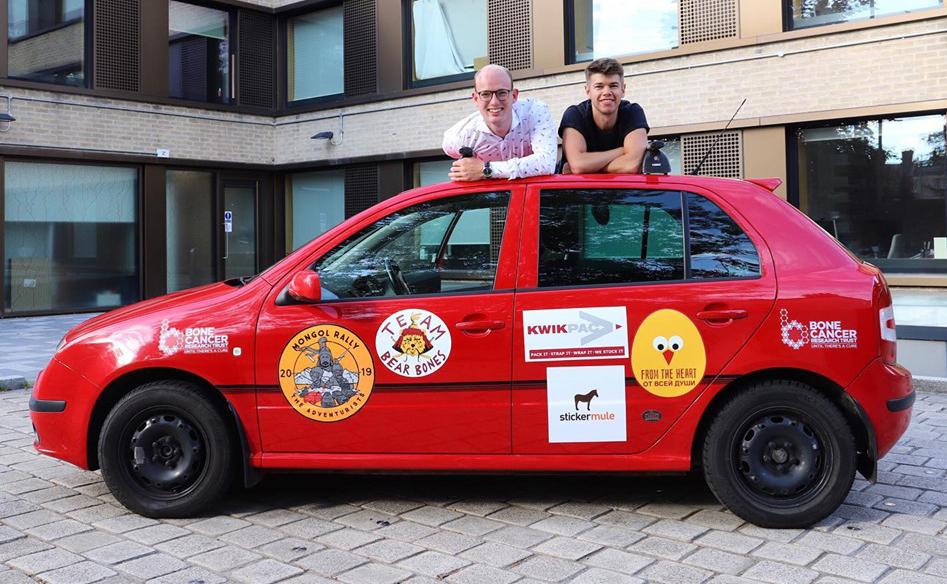 Team Bear Bones Mongol Rally Car Sponsored by Kwikpac