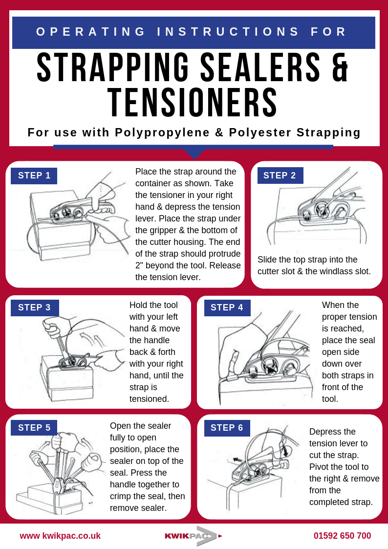 Strapping tensioner instructions