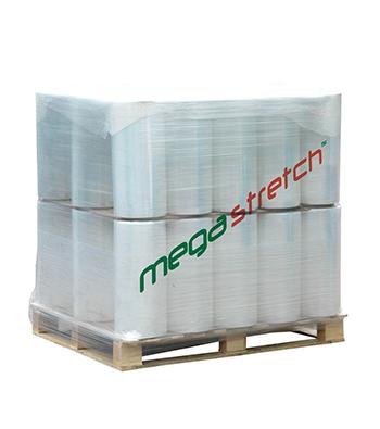 Megastretch clear and black machine stretch film