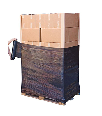 black stretch film for hand pallet wrapping