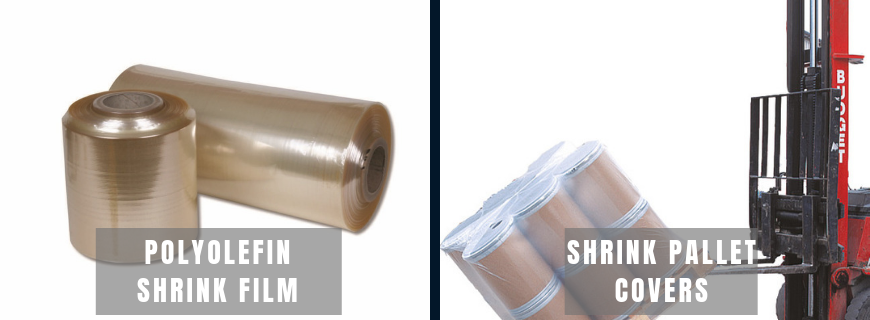 Shrink wrap film and shrink pallet covers