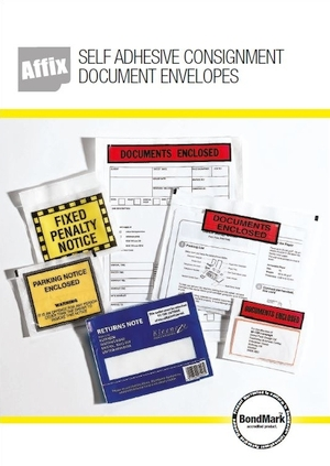 Affix document enclosed wallets brochure