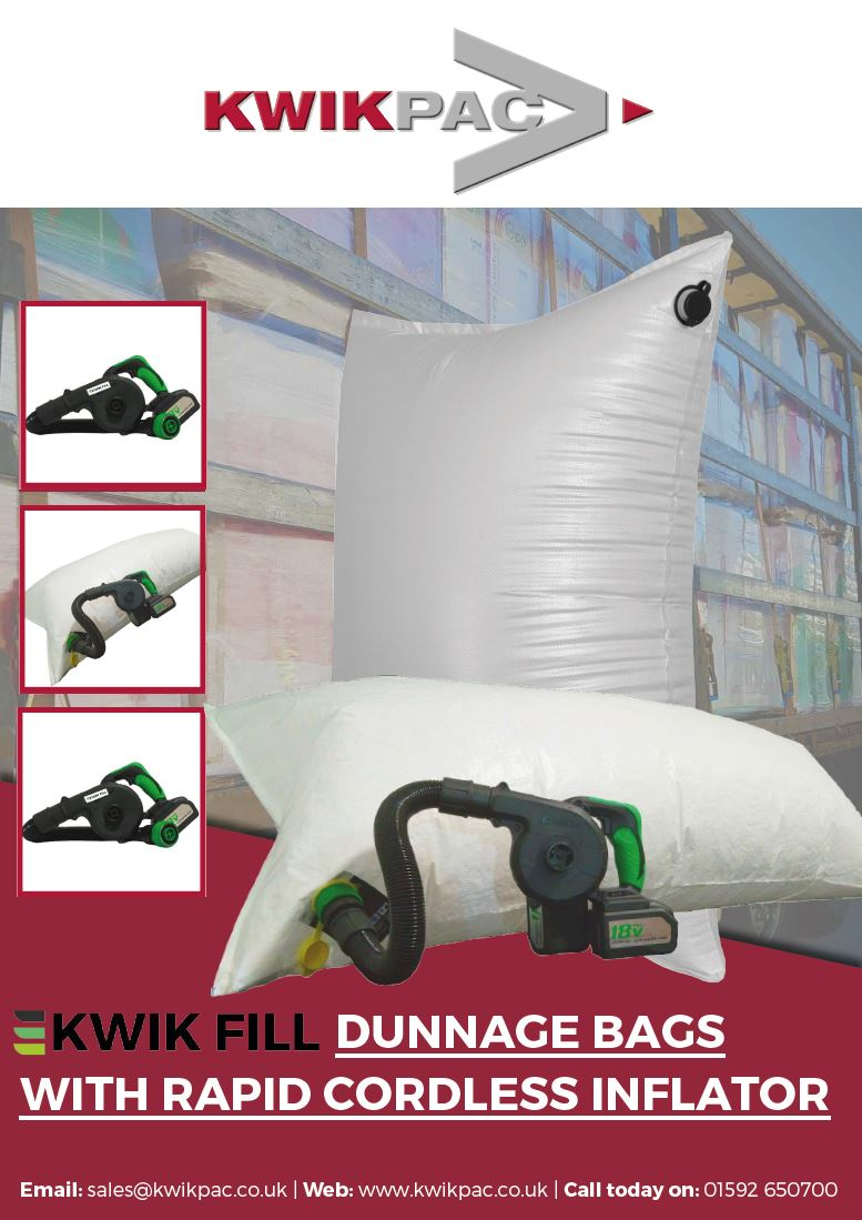 Dunnage bags for shipping brochure