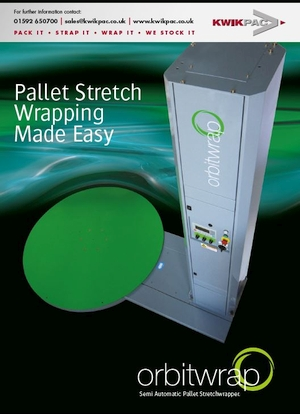 Pallet wrapping stretch film machine